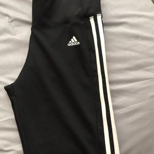 Black 3-Stripes lAdidas Leggings
